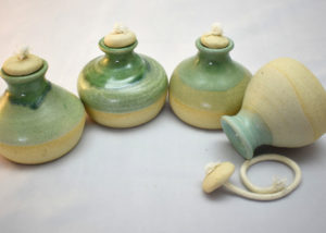 green ceramic oil lamps